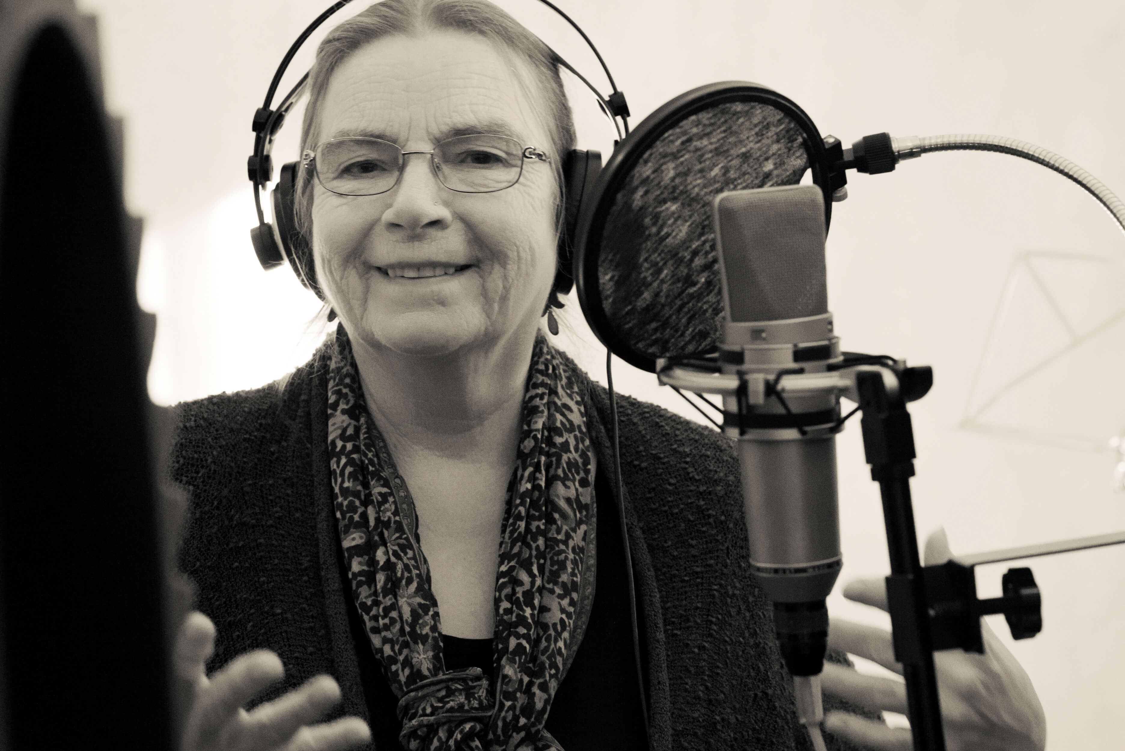 Valerie singing in studio 2